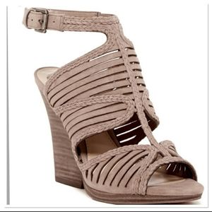 Vince Camuto Janil Sandal Suede Strappy Wedge